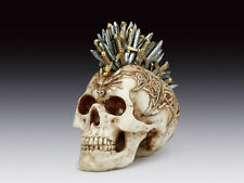 Steampunk Skull with Swords in Skull Figurine Statue Skeleton Halloween