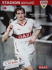 Programm 2010/11 VfB Stuttgart - FC Köln