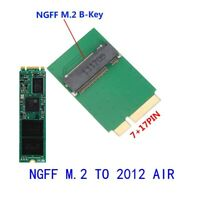 17+7 pin Adapter for M.2 SSD to 2012 Apple MacBook Air A1466 A1465 SSD