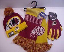2ea64db5d75 Washington Redskins Fan Apparel Team Logo Scarf Cap Gloves Licensed NFL  (WBSL)