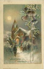 Christmas~Church Busy~Silver Bells~Mistletoe~Full Moon~Gold Leaf~Emb~John Winsch
