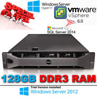 Dell R810 4x X7560 8-Core 2.27 GHz CPU 128GB PC3 RAM 6x 146GB 10k SAS HDD H700