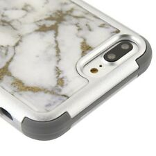 iPhone 5 6s 7 8 Plus Shockproof Hybrid Rubber Hard TPU Case Cover Marble Pattern