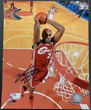 LeBron James Signed Cleveland Cavaliers 8x10 Photo Autographed GA Authenticated