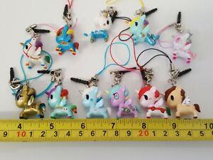 Tokidoki Unicorno Frenzie 2 Mini Figures 2015 series Unicorn keyring bag  Charm