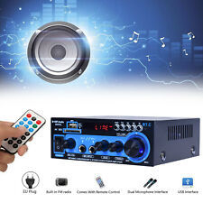 300W+300W 2Channel Hifi Power Stereo Audio Amplifier bluetooth FM USB AK-550