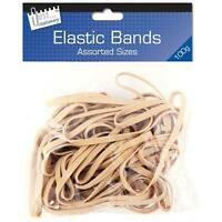 Strong Original Plain Elastic Bands Various Sizes Office Stationery School Home