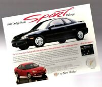 """1997 Dodge NEON """"SPORT"""" package Brochure / Flyer with Color Charts"""