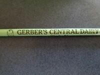 Vintage Gerber's Central Dairy Pencil Bluffton Indiana 3 Digit Phone Milk Baby