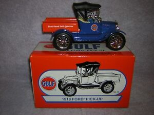 2005 Gulf Gas Station Diecast. 1918 Ford pickup Item number is 21643 P.