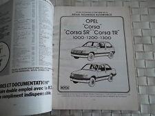 REVUE TECHNIQUE OPEL CORSA SR - TR - 1000 - 1200 - 1300