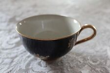 Heinrich Porcelain Cup in Deep Blue with Gold Gilding