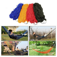 Portable Nylon Hanging Mesh SleepingBed Swing Outdoor Travel Camping Hammock