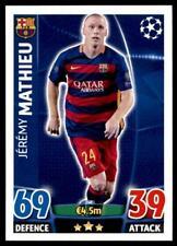 Match Attax Champions League 15/16 Jérémy Mathieu FC Barcelona No. 240