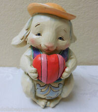 "Nib Jim Shore ""Somebunny To Love"" 4-3/4"" Pint Sized Love Bunny Figurine #4041775"