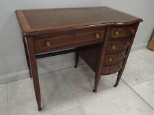 Antique Edwardian Mahogany & Inlaid Kneehole Desk