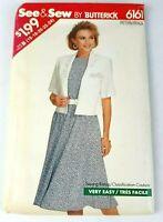 Butterick 6161 Women's Jacket Dress Sizes 16 18 20 22 24 Uncut Easy Pattern