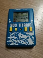 Casio game sos titanic (CG-117 A) color azul - 1987 vintage, colección