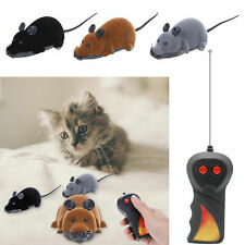 Wireless Electric RC Flocking Plastic Rat Remote Control Mouse Mice Toy for Cat