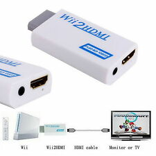 Wii TO HDMI Wii2HDMI Adapter Converter Full HD 1080P 3.5mm Audio Video Output