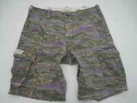 Mens 34 Denim & Supply Ralph Lauren purple green tiger camo cargo shorts