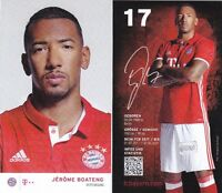 Jérôme Boateng + FC Bayern München + Saison 2016/2017 + Autogrammkarte + AK68 +