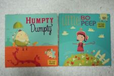 HUMPTY DUMPTY and LITTLE BO PEEP by Christopher Harbo X2 hardcover picture books