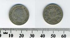 Switzerland 1880 B - 10 Rappen Copper-Nickel Coin