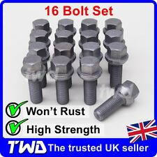 16x WHEEL BOLTS VW TRANSPORTER T4 T5 T6 (COMPATIBLE FIT) ALLOY LUG NUTS [W40]