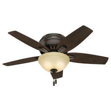 "Hunter 42"" Newsome Premier Bronze Ceiling Fan w/Light 51081 new"