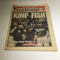 New York Post: October 26 2003, King Fish, Marlins Beat Yanks For Series Title