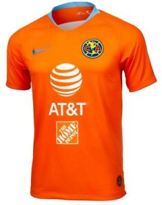 Nike Club America Orange JERSEY available in Small Medium Large XL or XXL