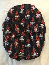 Child Car Seat Cover Reversible Black Red Skull & Crossbones Bad Bones