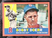 2017 Topps Archives Peach Parallel Bobby Doerr #73 Serial # 061/199 Boston
