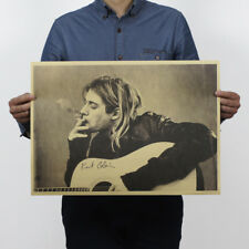 NEW Nirvana Kurt Cobain Print Rock Music Poster 51.5x36cm Vintage Retro Home Bar