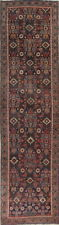 Antique All-Over Vegetable Dye Runner Heriz Serapi Oriental Rug 4'x14'