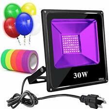 Black Light 30W Led Blacklight With 5 Balloons Uv Flood Ip66 Waterproof Neon For