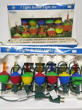 Vintage Roman Bubble Lights Christmas Holiday 5 Packs 35 Total Lights