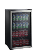 Can Beverage Center Galanz 110 Capacity Cooler Mini Fridge Stainless Door Frame