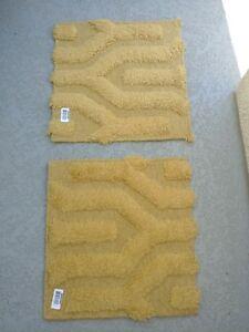 SURYA Set Of 2 Wool Mustard Colored 18 X 18 Inch Rugs