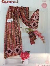 CARNIVAL CHUNKY Shawl, Scarf, Mitts, Crochet Pattern ~ Stylecraft 9160 3 Styles