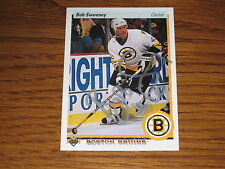 BOB SWEENEY AUTOGRAPHED 1990-1991 UPPER DECK CARD-BRUINS