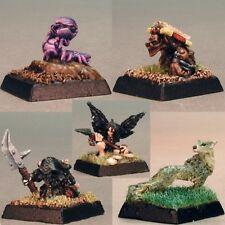 Reaper Warlord 14041 Familiars I Hound Dog Fox Baby Purple Worm Demon Evil Fairy