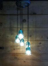 GLASS INSULATOR Chandelier Light Fixture 5-VINTAGE BEEHIVE Insulator U CHOOSE