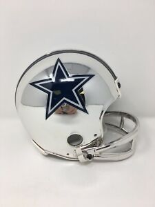 Cowboys custom CHROME  throwback riddell VSR4 mini helmet
