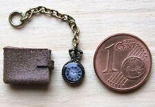 Geldbörse Taschenuhr 1:12  Zubehör Puppenstube Puppenhaus Diorama