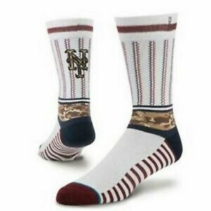 STANCE mens MLB Memorial Day New York NY Mets Crew Socks LG Brand New