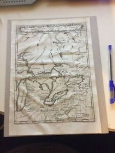 ANTIQUE UNITED STATES CANADA GREAT LAKES MICHIGAN HURON ERIE ONTARIO MAP 1763