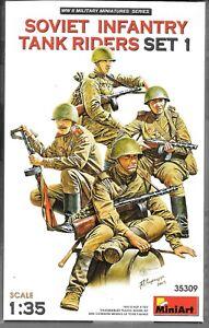 Master Box WWII Soviet Infantry Tank Riders Set 1, Figures 1/35 309 ST DO B6