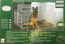 Dog Pet  Cage Crate Carrier Folding Transport steel 2 x doors Large Breed XXL
